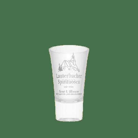 Glas Lauterbacher Spirituosen 0,04 l